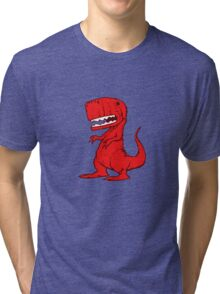 Big Red Dinosaur Tri-blend T-Shirt