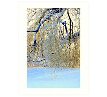 Sparkling Broken Tree Art Print