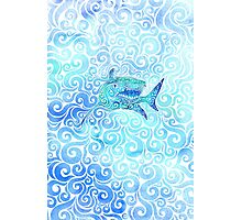 Swirly Shark Photographic Print