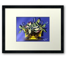 Vines, Leaves, and Dragonfly Framed Print