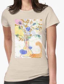 Some Peacock Feathers Womens Fitted T-Shirt