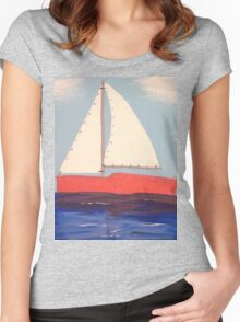 Boat (Big) Women's Fitted Scoop T-Shirt