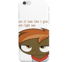 Button Mash - Does it look like I give a buck? iPhone Case/Skin