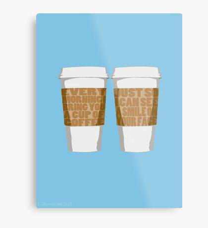 Morning Coffee Metal Print