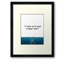 Misquoth Series: Jaws Framed Print