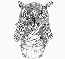 Cupcake owl Womens Fitted T-Shirt