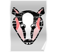 Cute Badger Face Poster