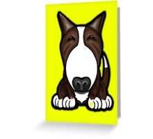 Brown Patch English Bull Terrier Greeting Card