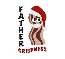 Father Crispness! Cute Santa Bacon by Eggtooth
