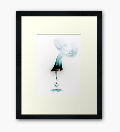 Coloured Fire Framed Print