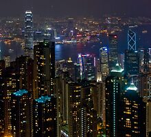 Hong Kong At Night by Dan Davies