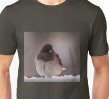 Dark-Eyed Junco in the snow Unisex T-Shirt