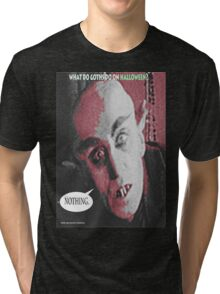 """'Count Orlock, the Vampire #3', FROM THE FILM """" Nosferatu vs. Father Pipecock & Sister Funk (2014)"""" Tri-blend T-Shirt"""