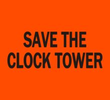 Save The Clock Tower (Dark) Kids Clothes