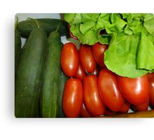 Salad Vegetables.....................French Style Canvas Print