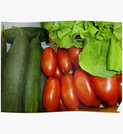Salad Vegetables.....................French Style Poster