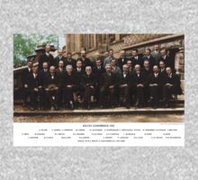 Colorized - Solvay Conference 1927. Einstein, Curie, Bohr and more. Kids Clothes
