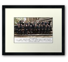 Colorized - Solvay Conference 1927. Einstein, Curie, Bohr and more. Framed Print