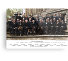 Colorized - Solvay Conference 1927. Einstein, Curie, Bohr and more. Metal Print