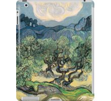 Olive Trees by Vincent van Gogh. Famous landscape oil painting. Van Gogh's unique swirling painting style. iPad Case/Skin