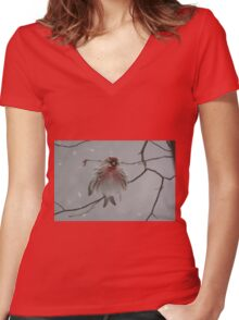 I'm so cold... Women's Fitted V-Neck T-Shirt