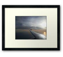Sunrise Over the Ocean from Aeroplane Framed Print