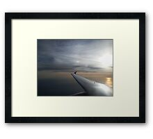 Sunrise Over the Ocean from Aeroplane Framed Print