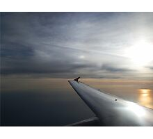 Sunrise Over the Ocean from Aeroplane Photographic Print