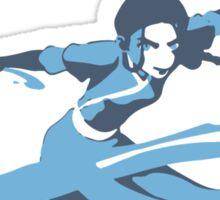 Minimalist Katara from Avatar the Last Airbender Sticker