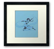 Minimalist Katara from Avatar the Last Airbender Framed Print