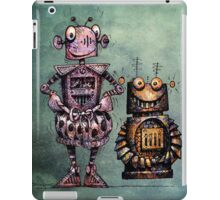 Two Funny Robots iPad Case/Skin