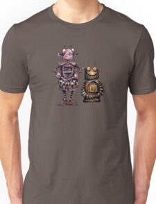 Two Funny Robots Unisex T-Shirt