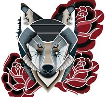 Rose Wolf by sarahLmiller