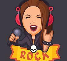 Rock girl by PrinticBestiary