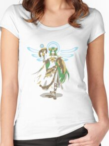 Minimalist Palutena from Super Smash Bros. 4 Women's Fitted Scoop T-Shirt