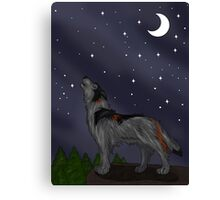 Howling Wolf (Gray) Canvas Print