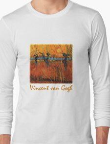 Vincent van Gogh, Willows at Sunset.  Long Sleeve T-Shirt