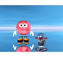 Mr Red Bubble and Pet Suds Photographic Print