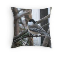 chickadee dee dee Throw Pillow