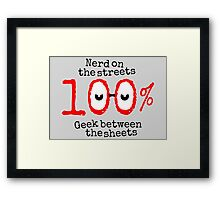 Nerd on the streets Framed Print