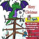 Dragon says Merry Christmas by Anne van Alkemade
