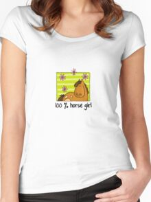 100 % Horse Girl Women's Fitted Scoop T-Shirt
