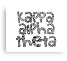 Kappa Alpha Theta Bubble Letters Metal Print