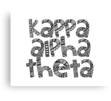 Kappa Alpha Theta Bubble Letters Canvas Print