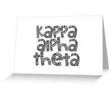 Kappa Alpha Theta Bubble Letters Greeting Card