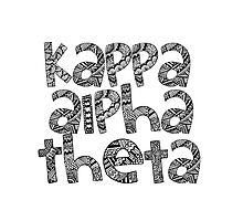 Kappa Alpha Theta Bubble Letters Photographic Print