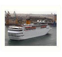 Cruise Liner Art Print