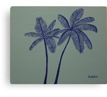 """Warhol Inspired Palm Trees 3"" Canvas Print"