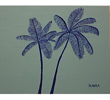 """Warhol Inspired Palm Trees 3"" Photographic Print"