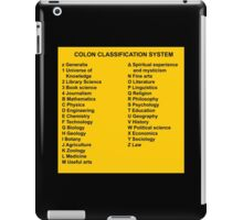 Library Sign Colon Classification System iPad Case/Skin